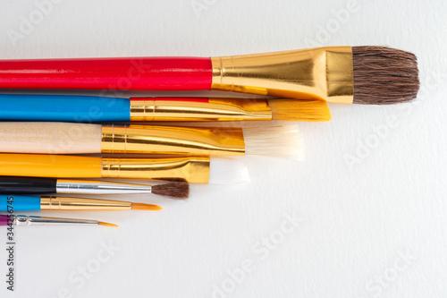 Art paintbrushes of various stroke widths Fototapeta