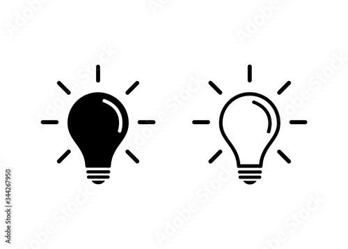 Fotografiet Light Bulb icon vector. Light Bulb sign.   Idea, solution.