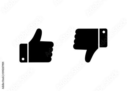 Fototapeta like and dislike icon, Thumbs up thumbs down icon vector obraz
