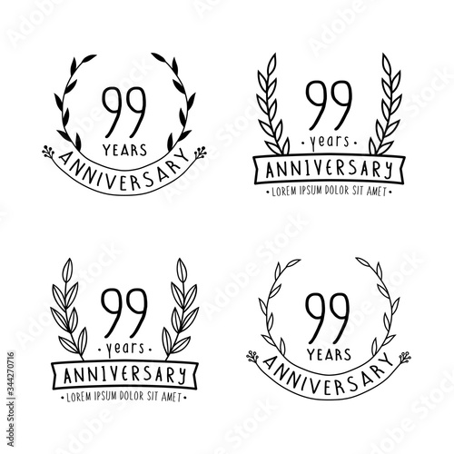 99 years anniversary logo collection Poster Mural XXL