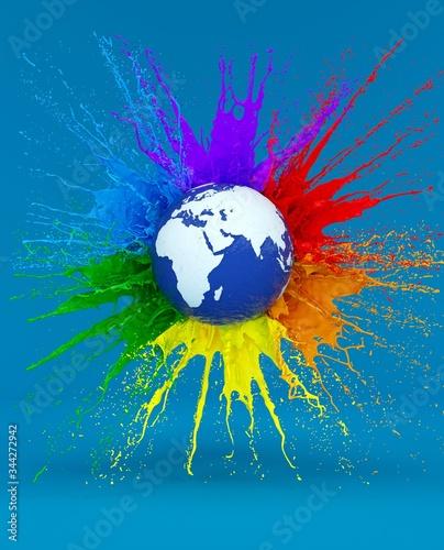 Fototapeta LGBT Illustration to Gay Pride Day