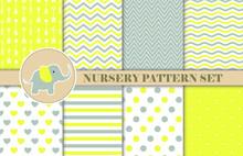 Yellow And Grey Pattern Set, G...