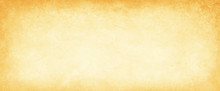 Old Yellow Gold Parchment Paper Background With Dark Yellowed Vintage Grunge Texture Borders And Off White Light Center In Distressed Faded Antique Colors