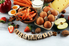Allergy Food Concept. Allergy ...