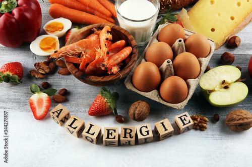 Photo Allergy food concept