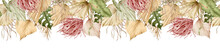 Watercolor Tropical Banner. Se...
