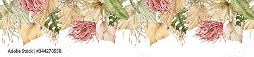 Tela Watercolor tropical banner