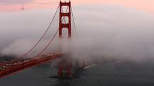 Elevated View Of Golden Gate Bridge