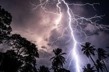 Shocking Lightning At Night