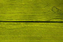 Bright Green Wood Texture. Two...