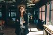 Leinwandbild Motiv Successful businesswoman standing in office
