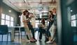 Leinwandbild Motiv Employees meeting in a modern office