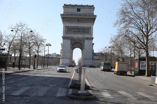 Beautiful view of the Arc de Triomphe, Paris Wallpaper Mural