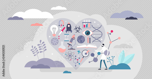 Love science vector illustration Canvas Print