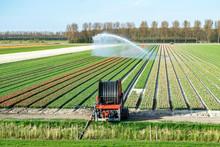 Soil Irrigation Machine On A F...