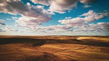 Clouds Over Grass Desert Weste...