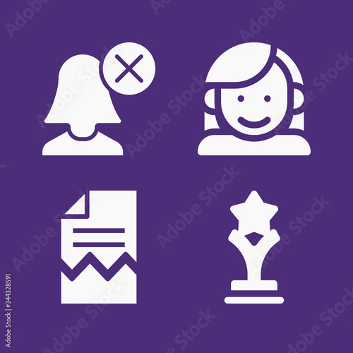 Photo Set of 4 approximation filled icons
