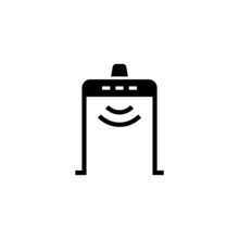 Metal Detector Icon In Black S...