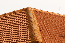 The Roof Of A House In Northern Israel Is Covered With New Red Tiles