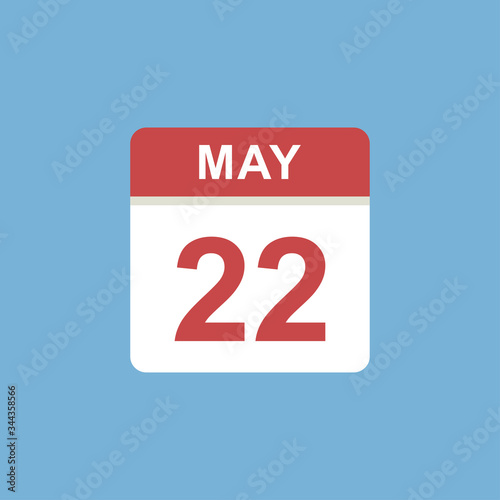 Photo calendar - May 22 icon illustration isolated vector sign symbol