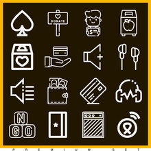Set Of 16 Donald Lineal Icons