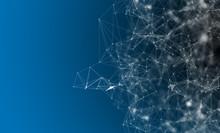 Digital Pattern On Blue Background
