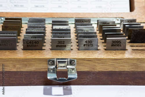 reference alloy standard metal specimen set box Canvas Print