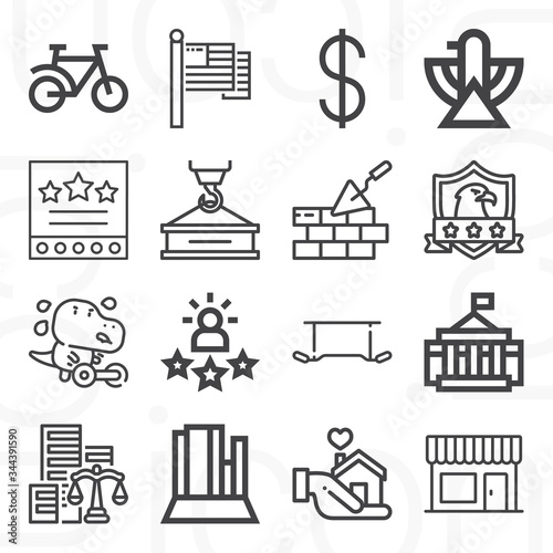 Photo 16 pack of asserting  lineal web icons set
