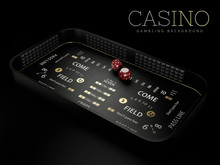3d Rendering Of Craps Table La...