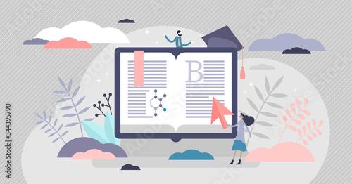 E-learning vector illustration Canvas Print