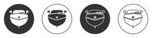 Black Speedboat Icon Isolated ...