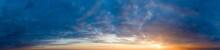 Panorama Sunrise Sky And Clou...