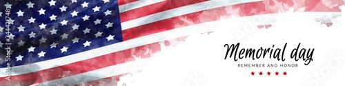 Obraz na plátne Memorial Day background illustration