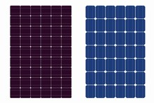 Solar Panel Texture Set , Vector Drawing