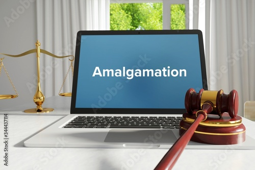 Amalgamation – Law, Judgment, Web Fototapet