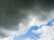 Kontrast Regenwolke mit Blauen Himmel