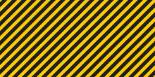 Black Yellow Stripes Wall Haza...