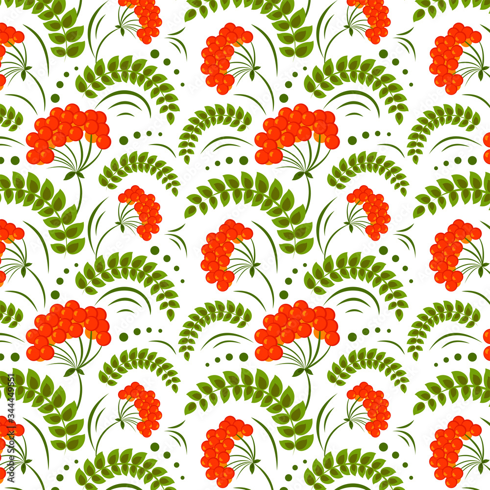 Graphic ethnic floral pattern with Ukrainian folk motifs. Great element for your design.