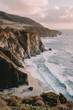 canvas print picture - Big Sur in the Monterey County beautiful landscape. Rocky coastline at the Pacific ocean