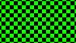 Leinwanddruck Bild - Green & black checker board abstract background,New chess board