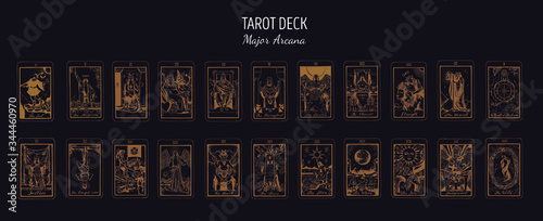 Big Tarot card deck Fototapete