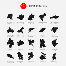 Map Of China Regions City Grap...