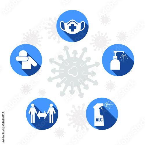 Obraz Coronavirus gestes barrières - fototapety do salonu