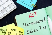 Harmonized Sales Tax – HST  Sign On The Piece Of Paper.