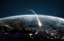 Rocket Launch On A Night Plane...