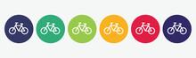 Bike Flat Icon Set.