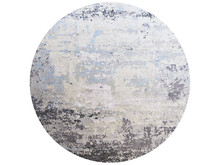 Modern Blue Round Rug With A Abstract Pattern. 3d Render