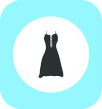Gothic Style Dress. Illustrati...