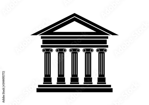 Fotomural Ancient building icon vector