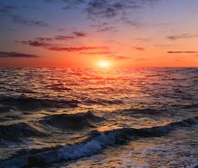 Panel Szklany Krajobraz sunset over sea
